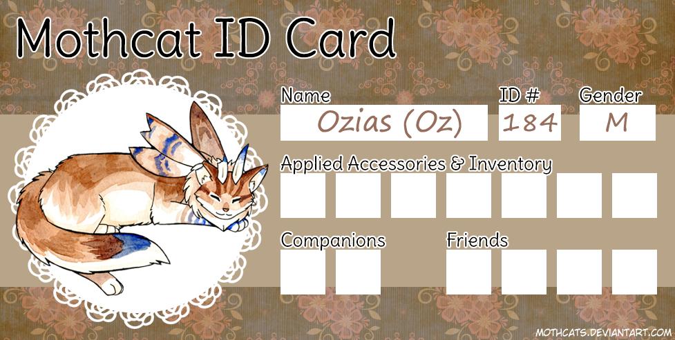 Ozias Mothcat ID by Arquerite