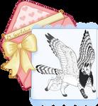 Feline-Tine Advent Day 24 - Gyrfalcon