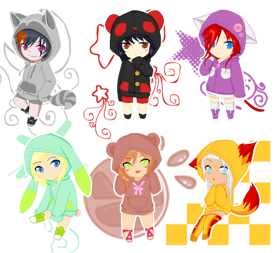 Cute Chibi Animal People
