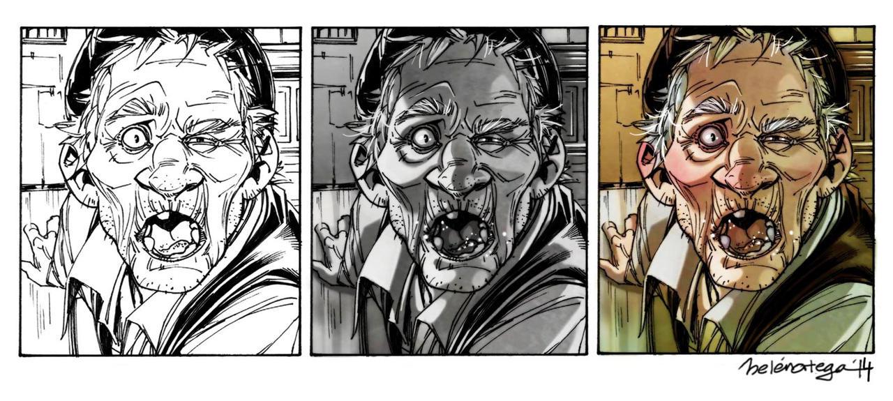 Drunky Grandpa panel process by Chiisa