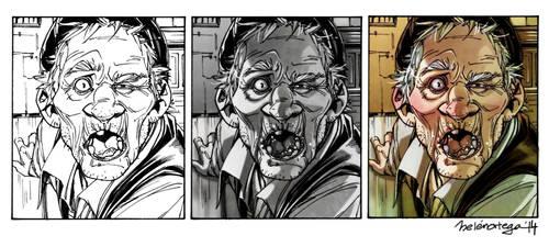Drunky Grandpa panel process