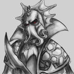 Lokhir Fellheart, the Krakenlord Warhammer sketch