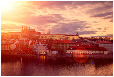 prague - sunset