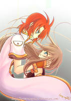 Tales of the Abyss-Luke x Tear by Crazy-megame