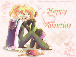 Valentine for Kagamine Twins by Crazy-megame