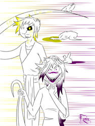 Virus and Mad Cry - with a very white style (5) by FenixInkFeather
