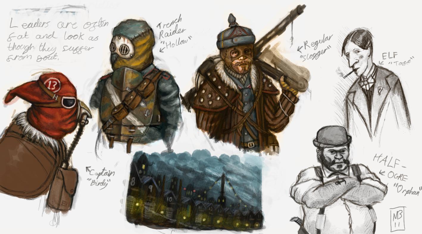 Fantasy World War 1 Characters by MattNB