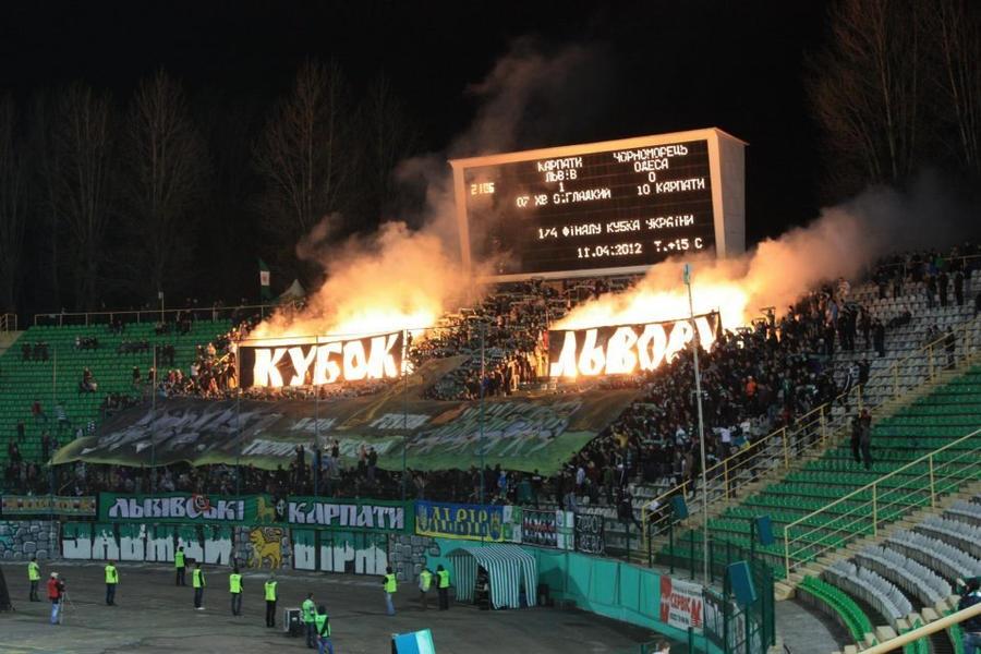 fckl karpaty lviv green white ultras