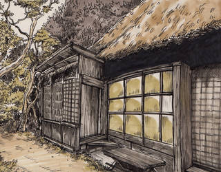 Inktober 2017 - Background study with copic marker