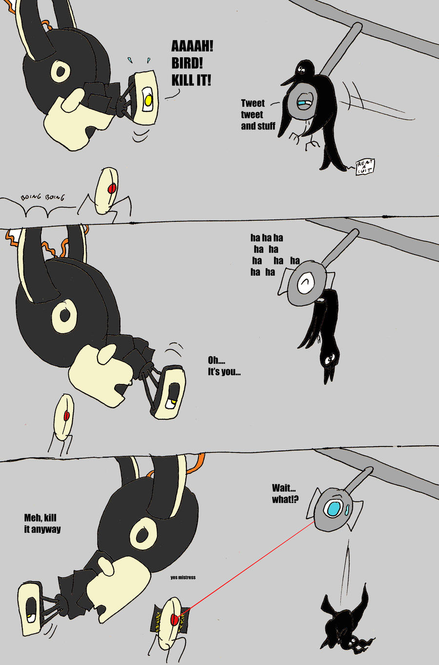 Wheatley pranks GLaDOS by ditistomzelf