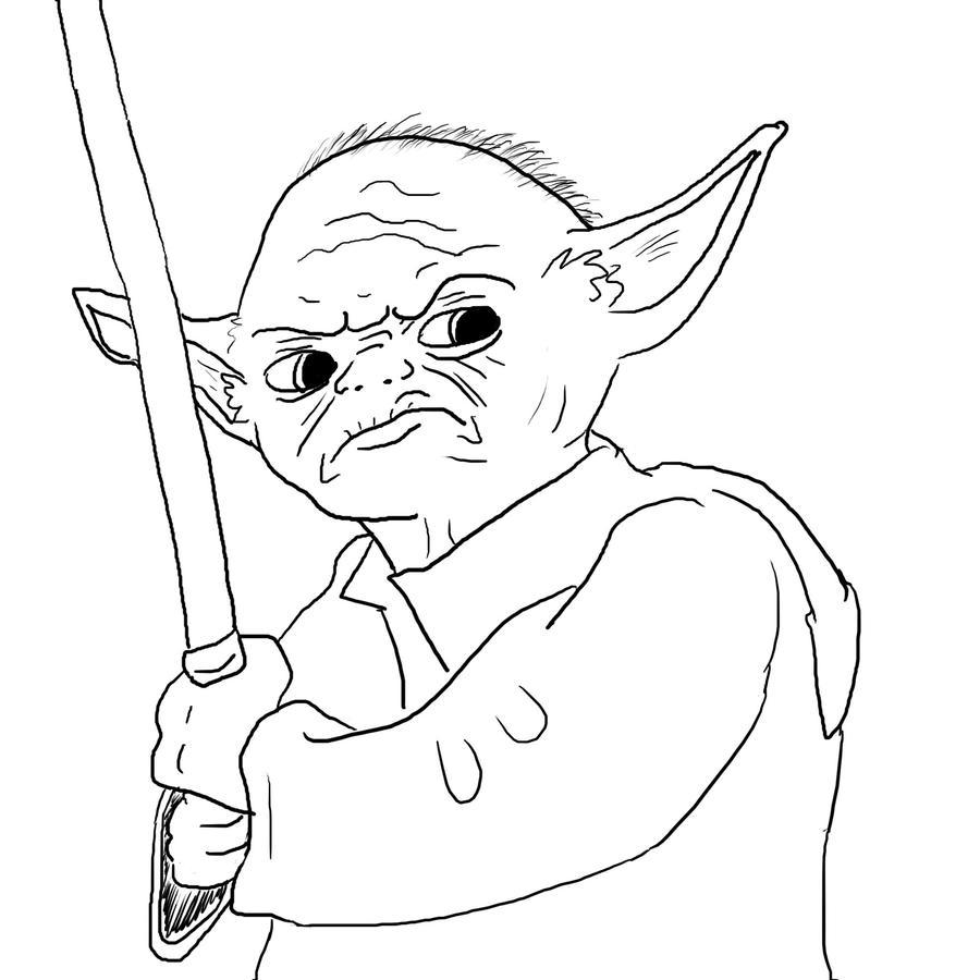 yoda sketch by ditistomzelf on deviantart