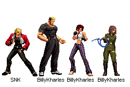 DLC Team 2D - KOF XIV by BillyKharles