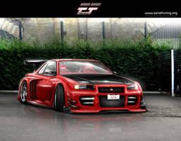 Nissan Skyline GTR R34 by EmreFast
