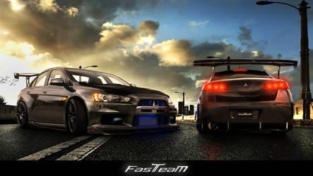 Fast Team Work- Evo X FQ 400s by EmreFast