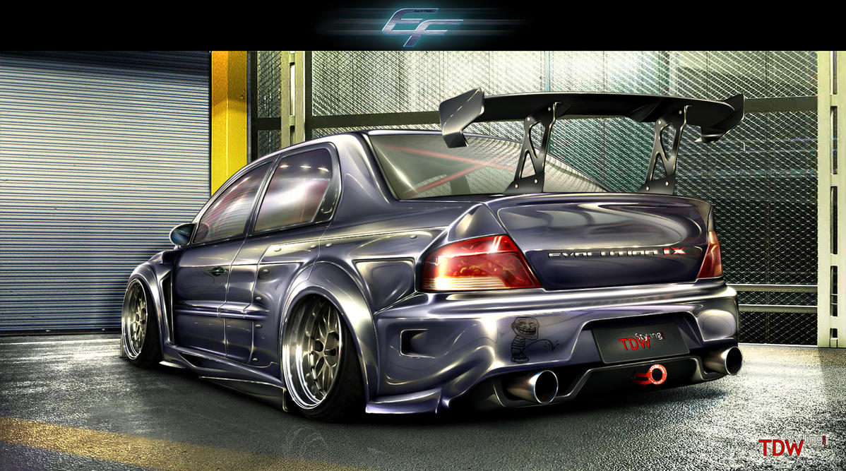 Blueberry Evo IX  rear shot by EmreFast