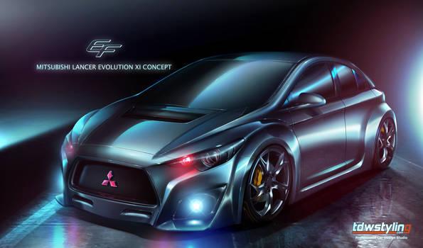 2013 Mitsubishi Lancer Evo XI Concept by EmreFast