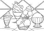 Original Lineart: Ice-Cream by R10hatten