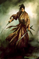 samurai lady by kerko