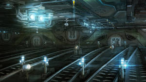 space train station concept