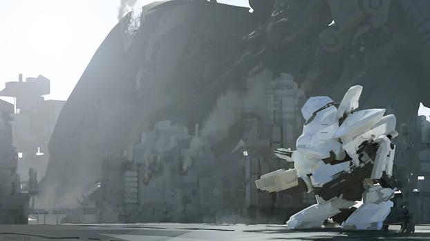 speed painting -white armor crash site by kerko