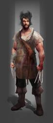 wolverine as butcher by kerko