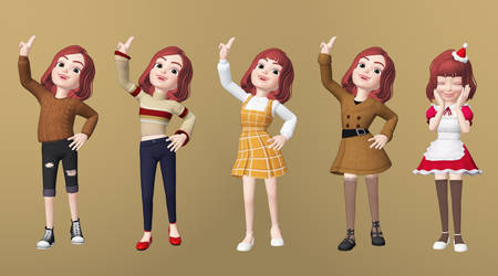[DOLLMAKER] Gina's Outfits by Opal-Kittens