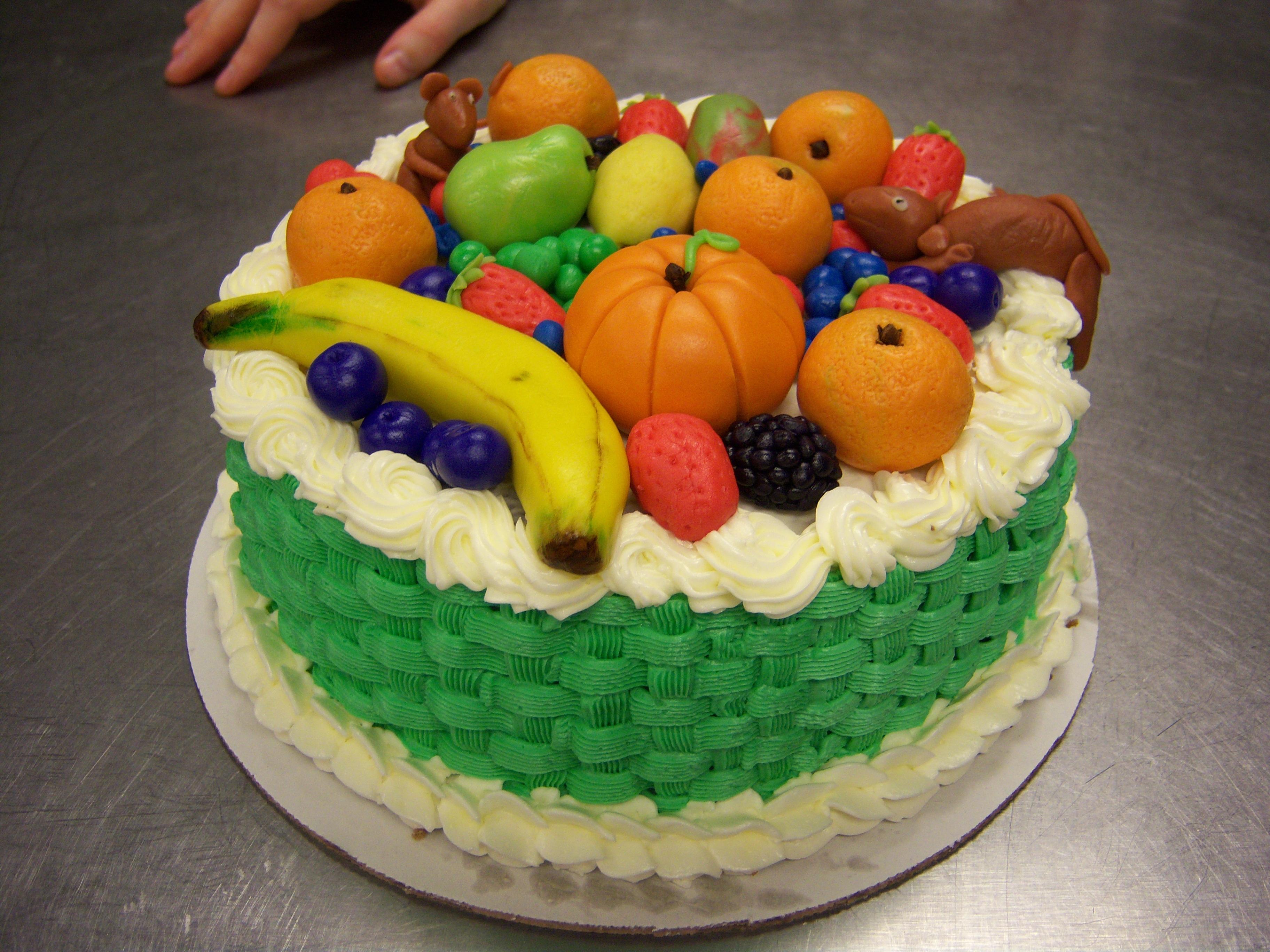 Cake Decorated With Fruits Pinterest : Fruit Basket Cake by jab2810 on DeviantArt