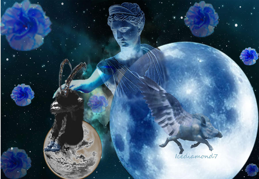 Zodiac Capricorn Design: Her Comfort From Artemis by icediamond7