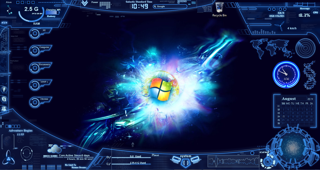 My Futuristic Desktop By Icediamond7 On DeviantArt