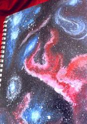 Painted Galaxy Sketchbook by icediamond7