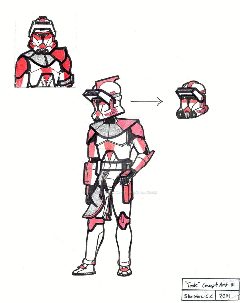 CWC: Clone Lieutenant Tusk concept by Dominic-Skirata-X