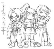 FMA :: Halloween Drawing by waterlilly