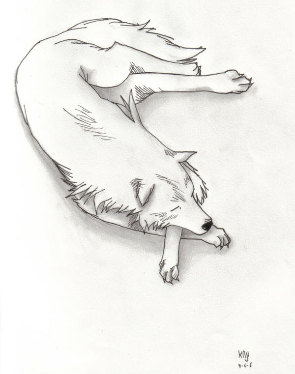Wolf Sleeping by Soumarukaji