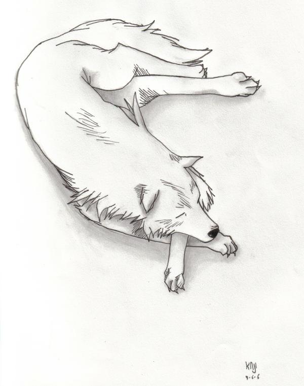 Wolf Sleeping by Soumarukaji