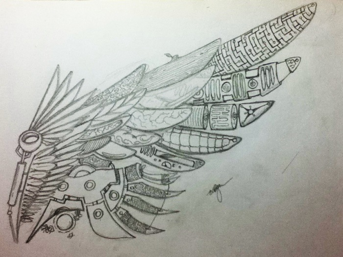 Daedalus Wing By Undyingdeath On Deviantart
