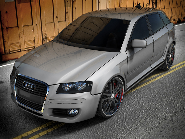audi exterior render by spittty