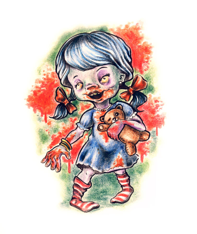 Zombie Little Girl Tattoo zombie little girl by ...
