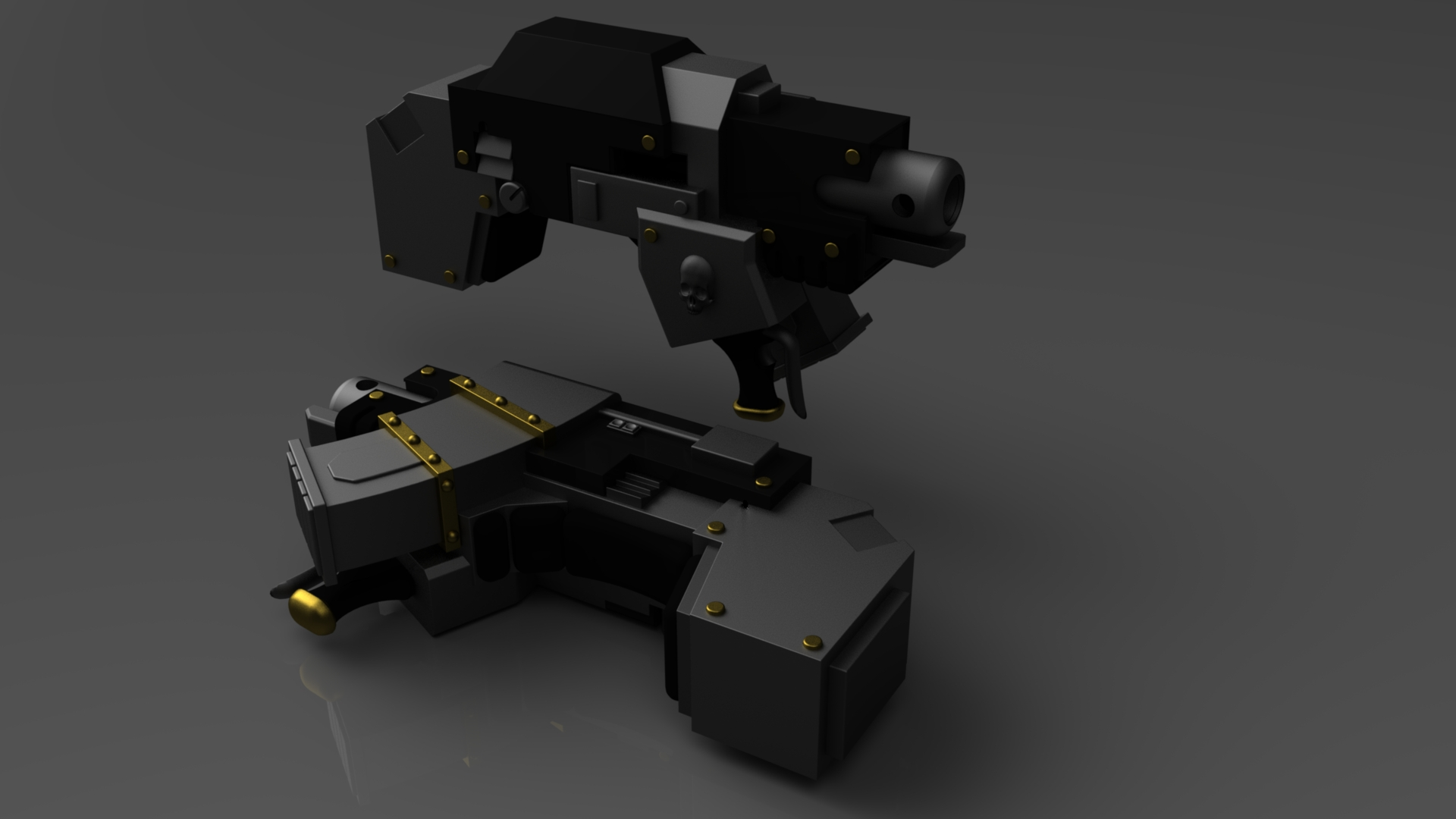 Warhammer Heavy Bolter by ClaireGrube