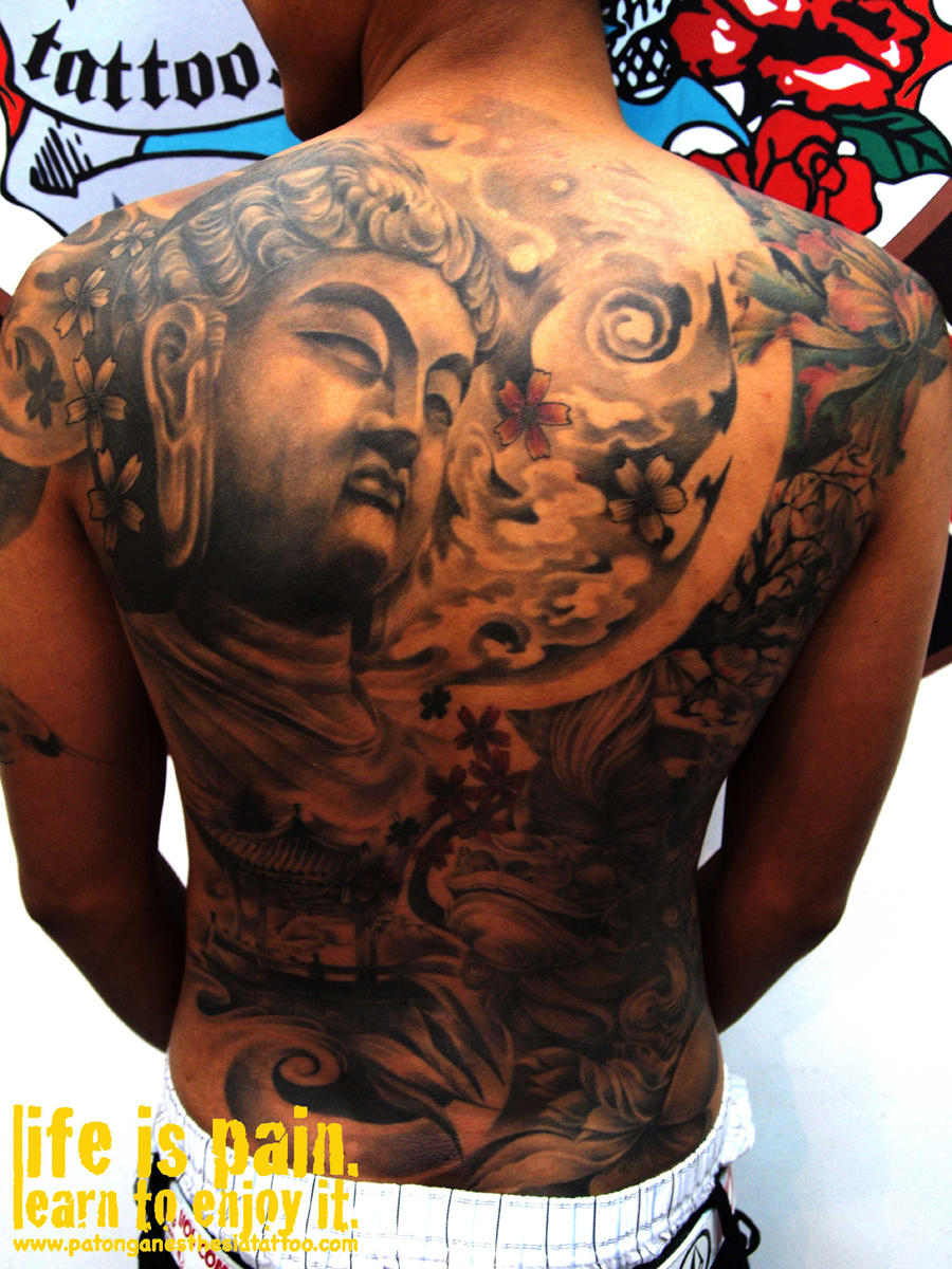 buddha tattoo by saksit on deviantart. Black Bedroom Furniture Sets. Home Design Ideas