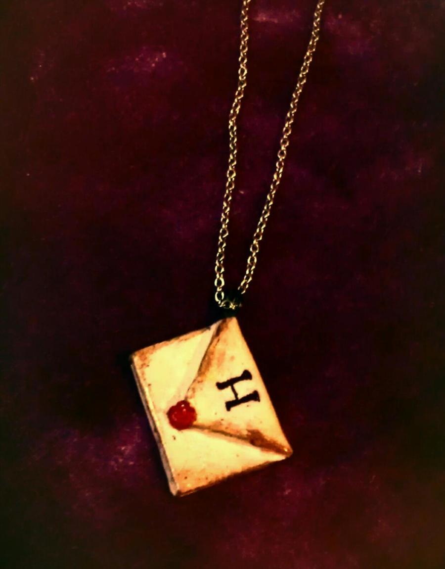 Hogwarts Letter Pendant by ThatPeskyNargle