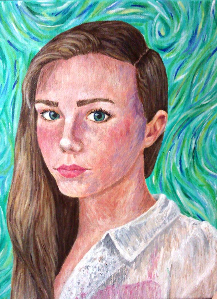 Self Portrait Van Gogh Style By Thatpeskynargle On