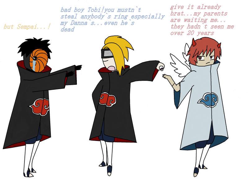 Amazon.com: NuoYa001 NEW 10PCS Naruto Rings Black Akatsuki Ring ...