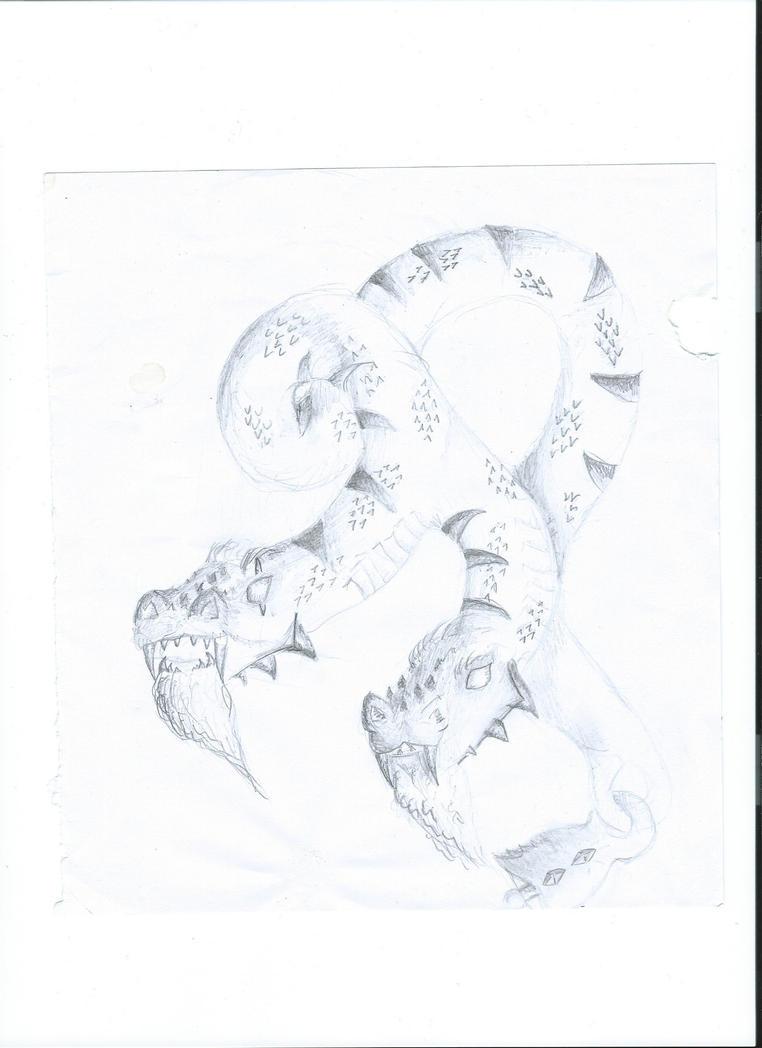 Two-headed dragon by behappyenJOY