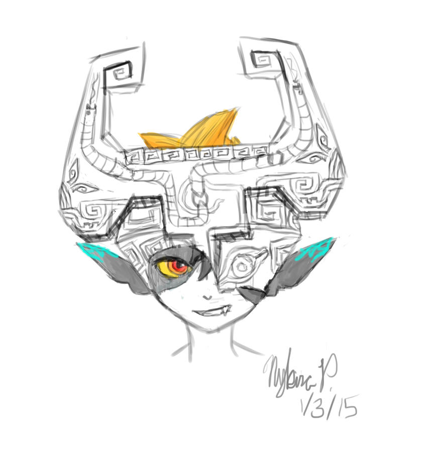 Midna Sketch by Eternal2ndKira