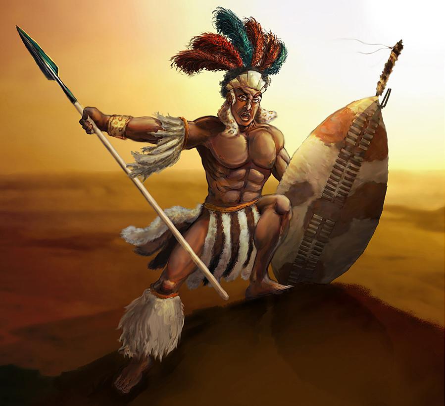 Zulu Warrior by superadaptoid on DeviantArt