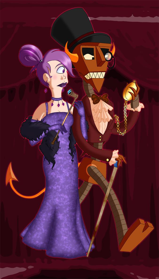 Leela and Robot Devil by colouredforpleasure on deviantART