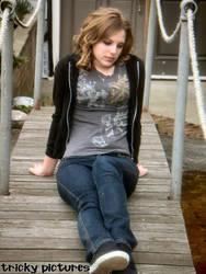Sad Curly Hair Girl
