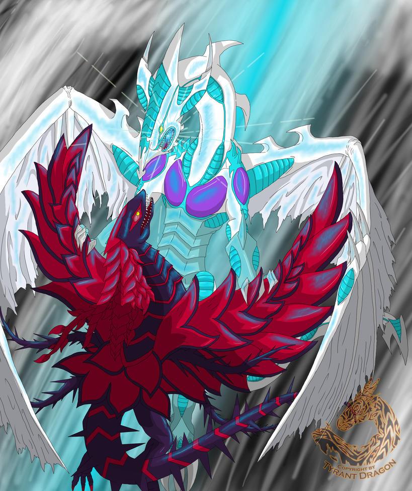 Stardust Dragon vs. Blackrose Dragon by KaliTyrant on DeviantArt