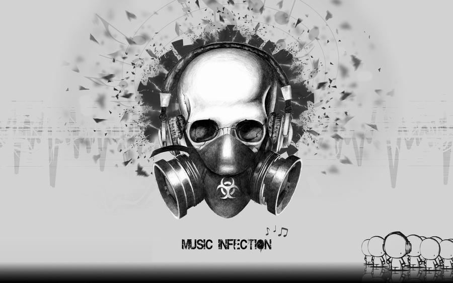 Music Infection 1680x1050 BW By JW1995