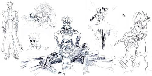 Vash the Stampede Fan Art 2005 by JasperK-StoneKing